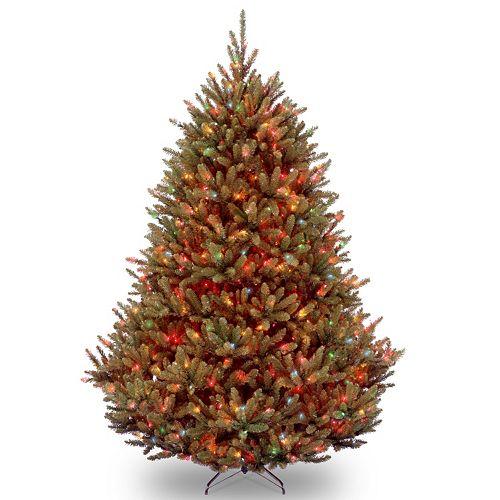 7.5-ft. Pre-Lit Multicolor Natural Fraser Fir Artificial Christmas Tree