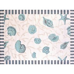 United Weavers Regional Concepts Shells Framed Rug
