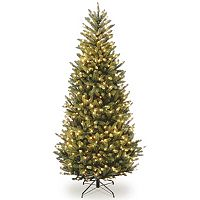 7.5-ft. Pre-Lit Natural Fraser Slim Fir Artificial Christmas Tree