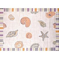 United Weavers Regional Concepts Sand & Shells Framed Rug