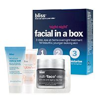 bliss Night Night Facial In A Box Skin Care Set