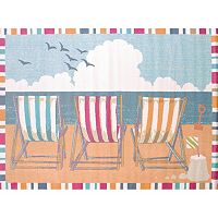 United Weavers Regional Concepts Seaside Chairs Framed Rug