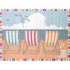United Weavers Regional Concepts Seaside Chairs Framed Rug