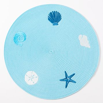 Celebrate Local Life Together Round Seashell Placemat