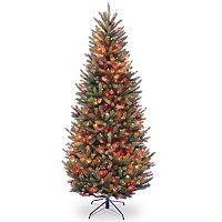 7.5-ft. Pre-Lit Multicolor Natural Fraser Slim Artificial Christmas Tree