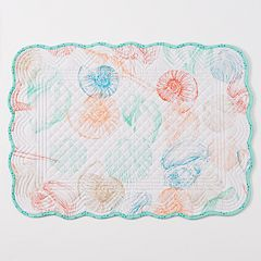Celebrate Local Life Together Shell Toss Quilted Reversible Placemat