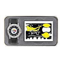 Sparo Pittsburgh Steelers Watch and Wallet Ninja Set - Men