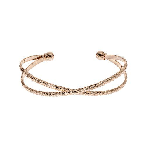 LC Lauren Conrad Textured Crisscross Cuff Bracelet