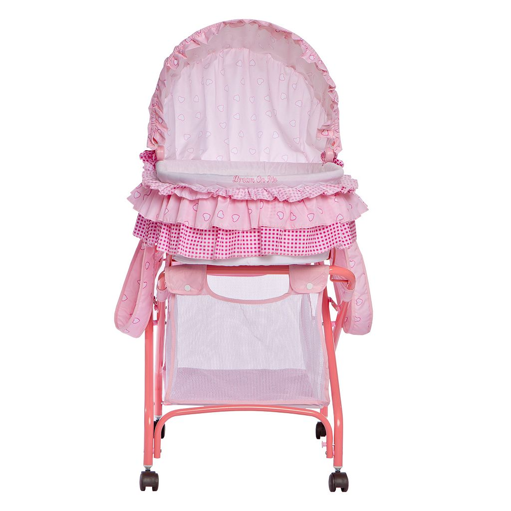 Dream On Me Layla 2-in-1 Portable Bassinet Cradle