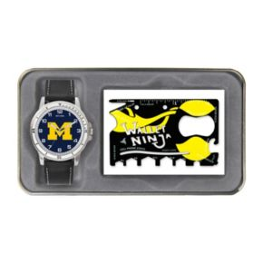 Sparo Michigan Wolverines Watch and Wallet Ninja Set - Men