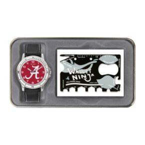 Men's Sparo Alabama Crimson Tide Watch and Wallet Ninja Set