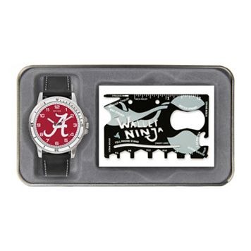 Men's Sparo Alabama Crimson Tide Watch and Wallet Ninja Set