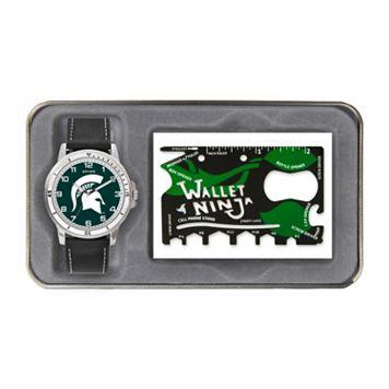 Sparo Michigan State Spartans Watch and Wallet Ninja Set - Men