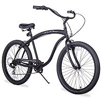 Firmstrong Men's 26 in Bruiser Seven-Speed Beach Cruiser Bike