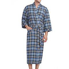 Big & Tall Residence Plaid Kimono Robe