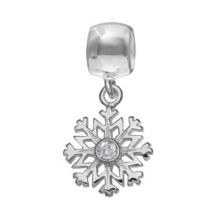 Individuality Beads Crystal Sterling Silver Snowflake Charm