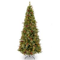 7.5-ft. Pre-Lit ''Feel Real'' Colonial Slim Artificial Christmas Tree