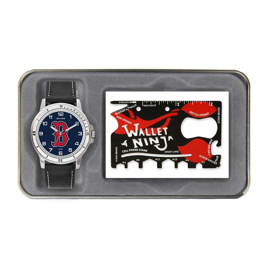 Sparo Boston Red Sox Watch and Wallet Ninja Set - Men