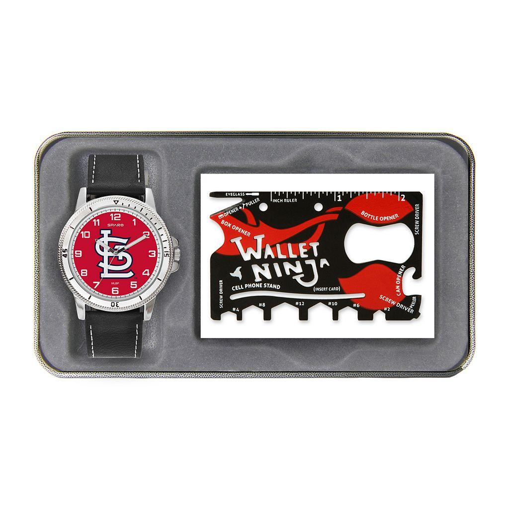 Sparo St. Louis Cardinals Watch and Wallet Ninja Set - Men