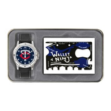 Sparo Minnesota Twins Watch and Wallet Ninja Set - Men