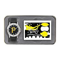 Sparo Pittsburgh Pirates Watch and Wallet Ninja Set - Men