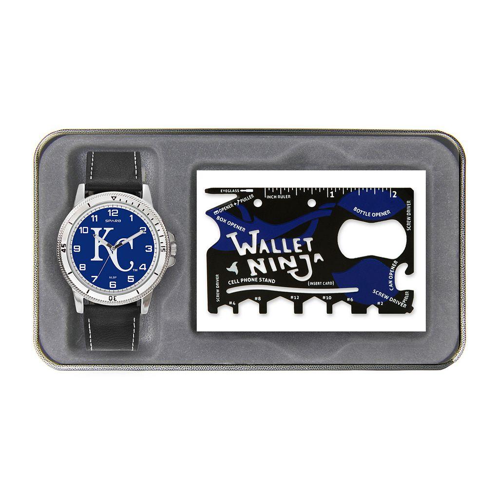 Sparo Kansas City Royals Watch and Wallet Ninja Set - Men