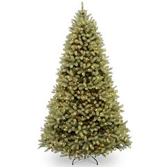 10-ft. Pre-Lit Dual LED ''Feel Real'' Downswept Douglas Fir  Artificial Christmas Tree
