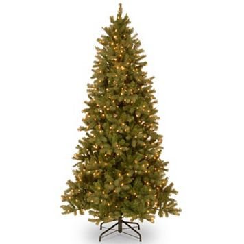 7.5-ft. Pre-Lit ''Feel Real'' Downswept Douglas Fir Slim Artificial Christmas Tree