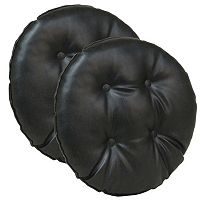 The Gripper 2 pc Faux Leather Bar Stool Cushion Set