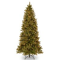 9-ft. Pre-Lit ''Feel Real'' Downswept Douglas Fir Slim Artificial Christmas Tree