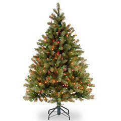 4.5-ft. Pre-Lit Multicolor ''Feel Real'' Downswept Douglas Fir Artificial Christmas Tree