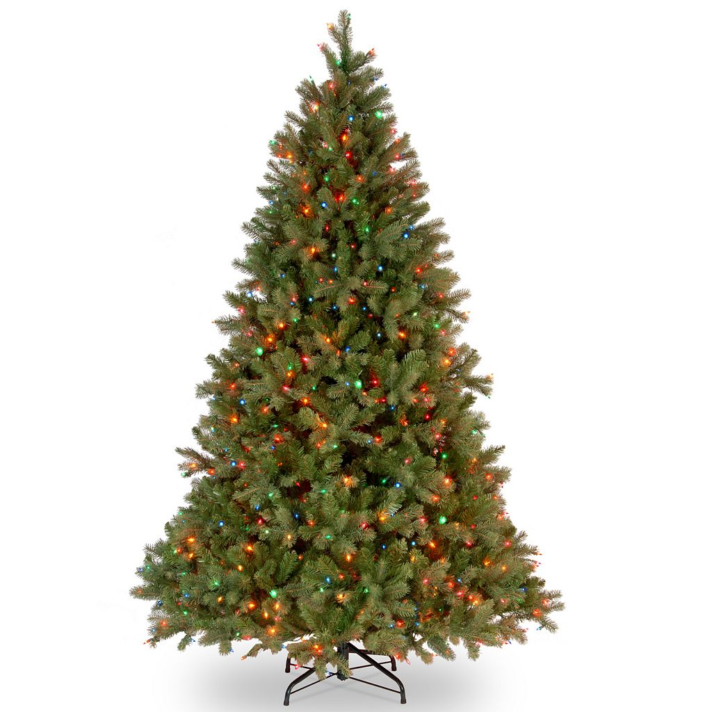 7.5-ft. Pre-Lit Multicolor ''Feel Real'' Downswept Douglas Fir Artificial Christmas Tree