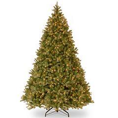 10-ft. ''Feel Real'' Pre-Lit Downswept Douglas Fir Artificial Christmas Tree