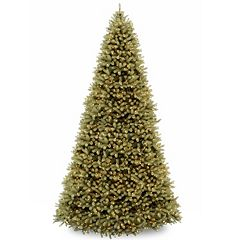 12-ft. ''Feel Real'' Pre-Lit Downswept Douglas Fir Artificial Christmas Tree