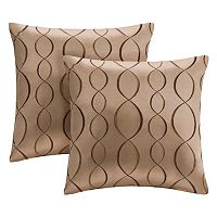 Madison Park Marcel Ogee Embroidered Taffeta 2-pc. Throw Pillow Set