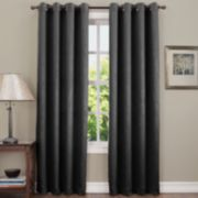 Sun Zero 1-Panel Hanson Crushed Room Darkening Window Curtain