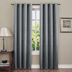 Sun Zero Hanson Crushed Room Darkening Window Curtain