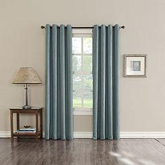 Sun Zero Hanson Room Darkening Window Curtain