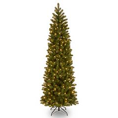 7.5-ft. Pre-Lit ''Feel Real'' Downswept Douglas Fir Pencil Slim Artificial Christmas Tree