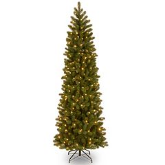 7.5-ft. Pre-Lit Dual LED ''Feel Real'' Downswept Douglas Fir Slim Artificial Christmas Tree