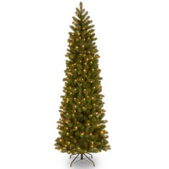 7.5-ft. Pre-Lit Dual LED ''Feel Real'' Downswept Douglas Fir Slim Artificial Christmas Tree