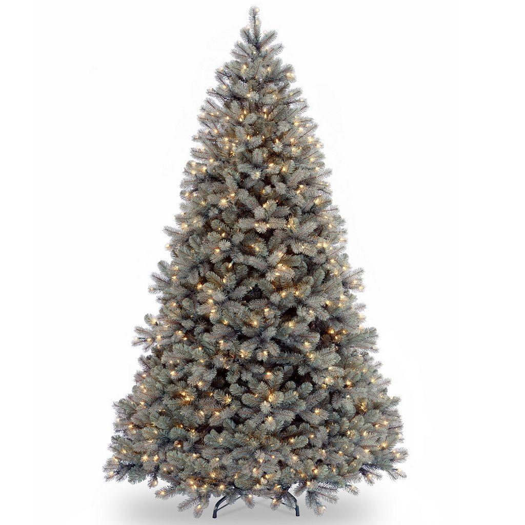 7.5-ft. Pre-Lit ''Feel Real'' Downswept Douglas Blue Fir Artificial Christmas Tree