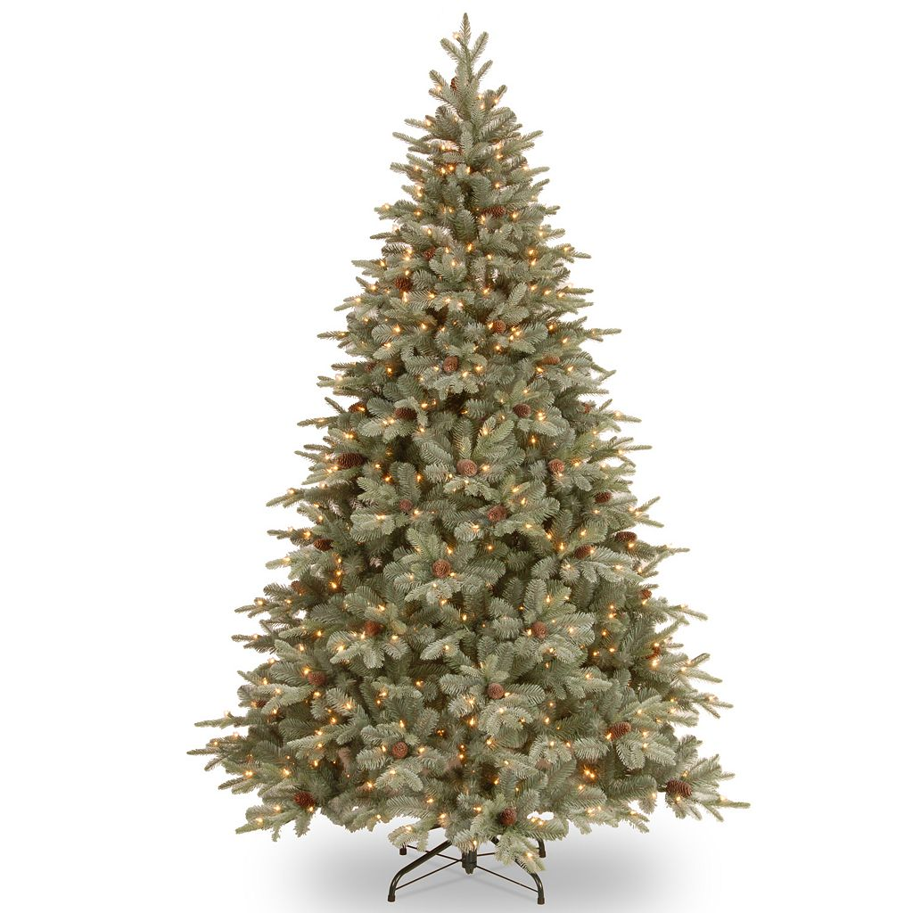 7.5-ft. Pre-Lit ''Feel Real'' Frosted Arctic Spruce Artificial Christmas Tree