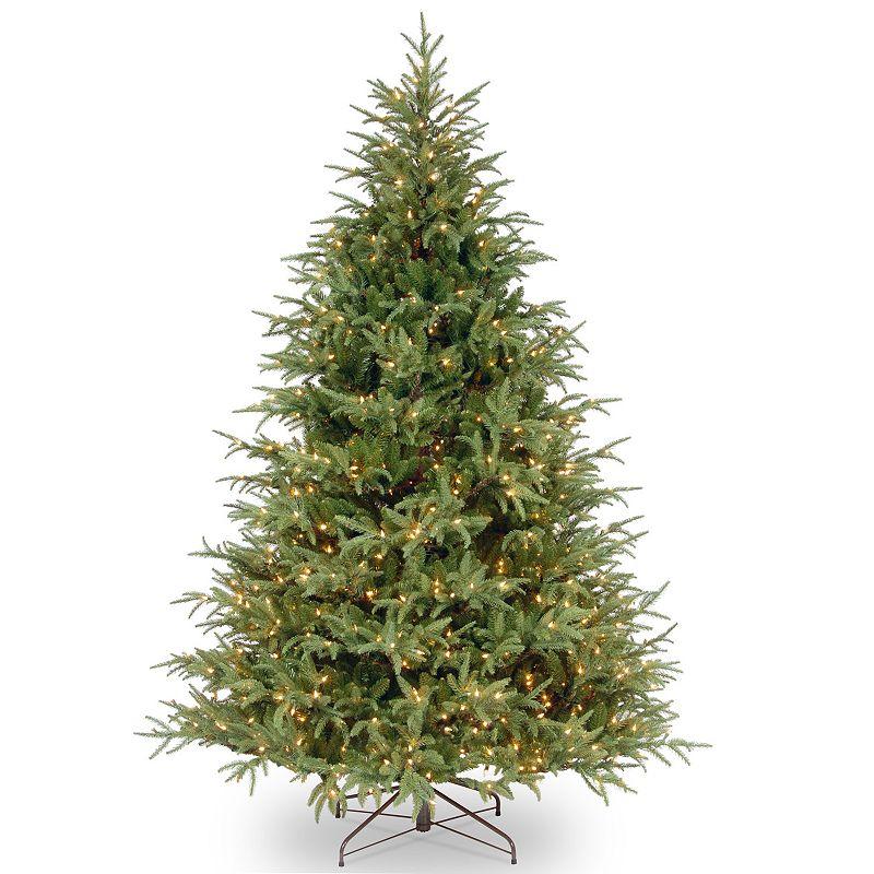 7.5-ft. Pre-Lit Feel Real Frasier Grande Artificial Christmas Tree, Dark Green
