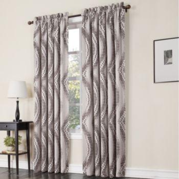 Sun Zero 1-Panel Prism Room Darkening Window Curtain