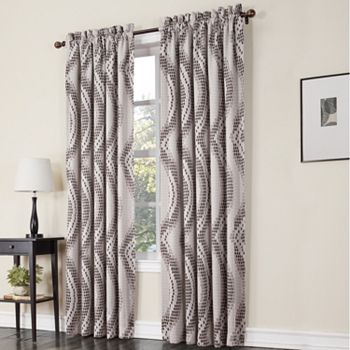 Sun Zero 1 Panel Prism Room Darkening Window Curtain