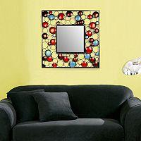 Bella Blue Square Wall Mirror