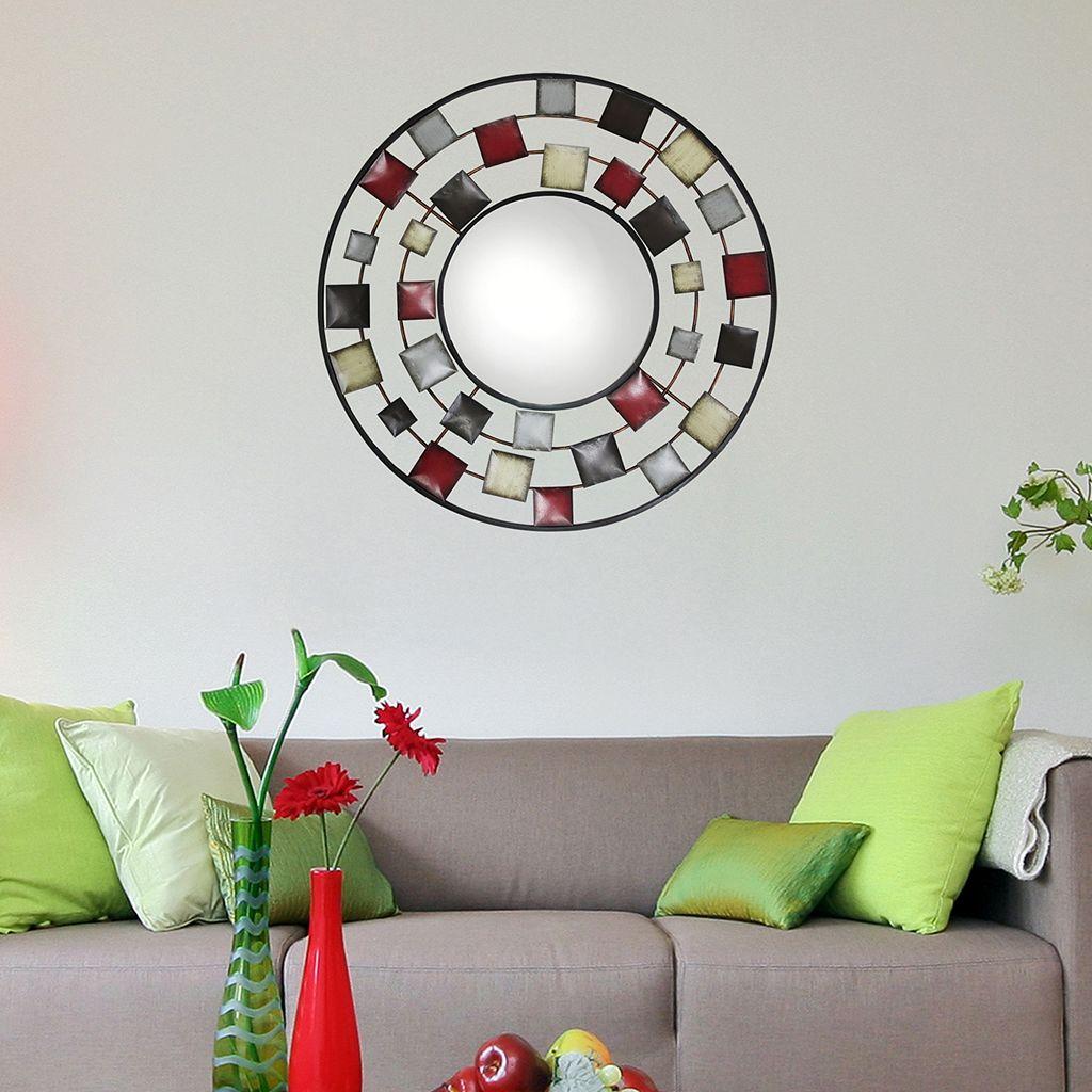 Square Circle Wall Mirror