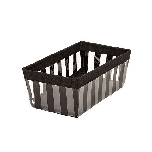 The Macbeth Collection Black Striped Small Shelf Tote
