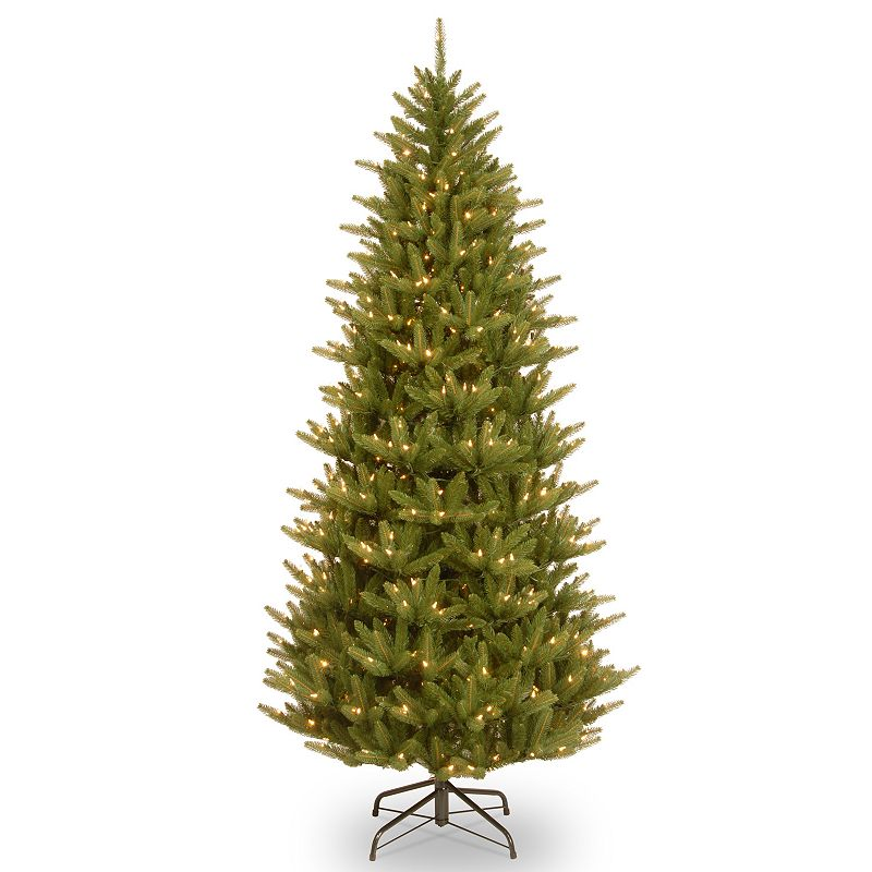 7.5-ft. Pre-Lit Feel-Real Natural Frasier Artificial Christmas Tree, Green